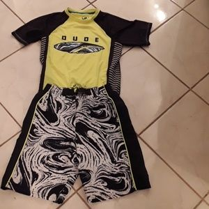 Ocean Pacific boy's swimming outfit.